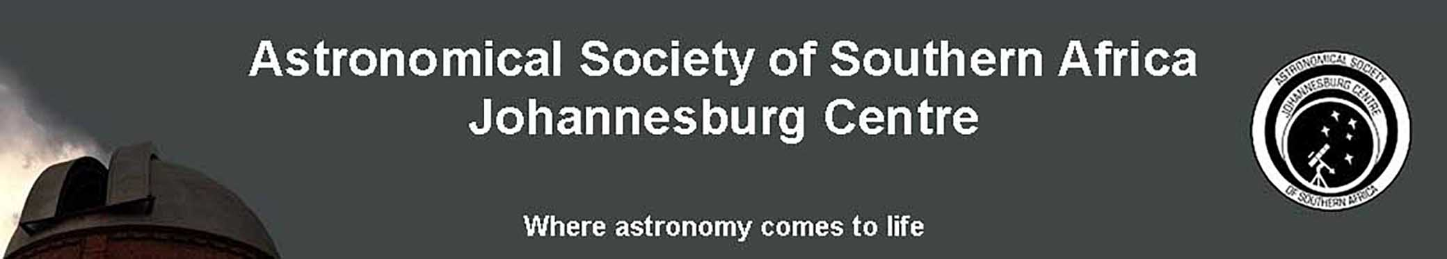 Astronomical Society of Southern Africa Johannesburg Centre